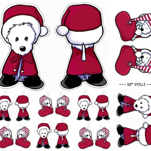 Christmas Westie Doll Panels