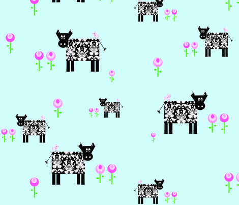 cows_multi_copy fabric by petunias on Spoonflower - custom fabric
