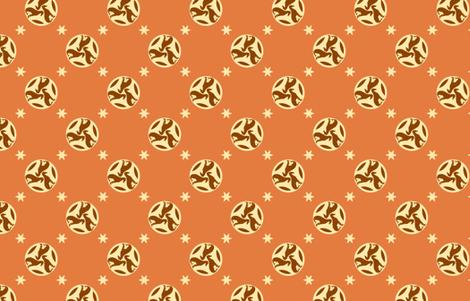 Rust Greyhounds gg3s   ©2010 by Jane Walker fabric by artbyjanewalker on Spoonflower - custom fabric
