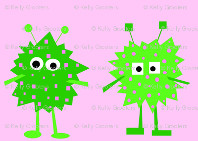 3_monsters_-_pink_and_green_-2