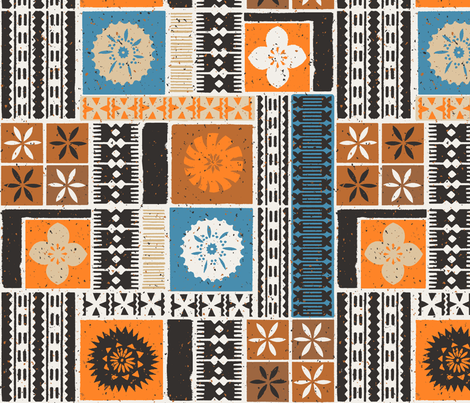 Fijian Tapa 2b fabric by muhlenkott on Spoonflower - custom fabric