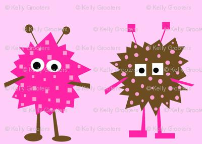 Monster Mash - pink/brown colorway