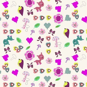 Kitch animal and bow print