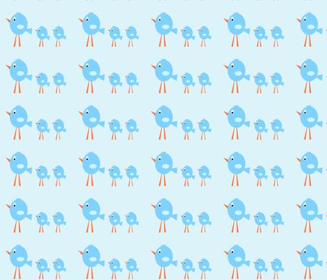 3_birds_-_blue_tint_background_copy fabric by petunias on Spoonflower - custom fabric