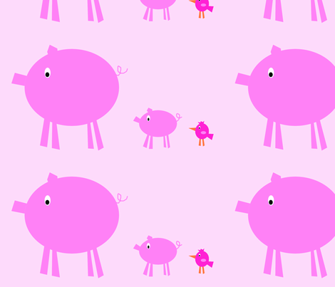 3_pink_pigs_final_cropped_size_copy fabric by petunias on Spoonflower - custom fabric
