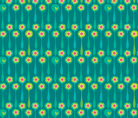 Spoon Forest - Night fabric by spellstone on Spoonflower - custom fabric