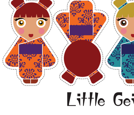 Little Geisha Girls fabric by kismutt on Spoonflower - custom fabric