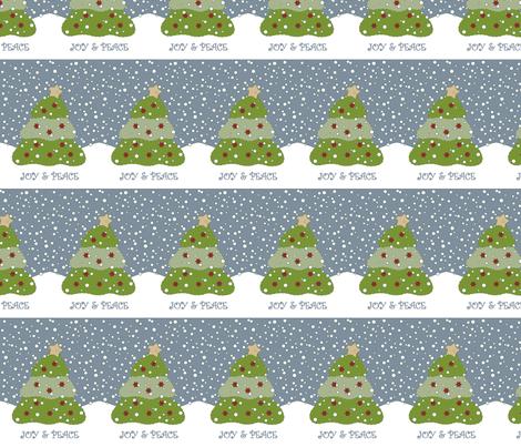 Christmas Tree Block fabric by weefolkart on Spoonflower - custom fabric