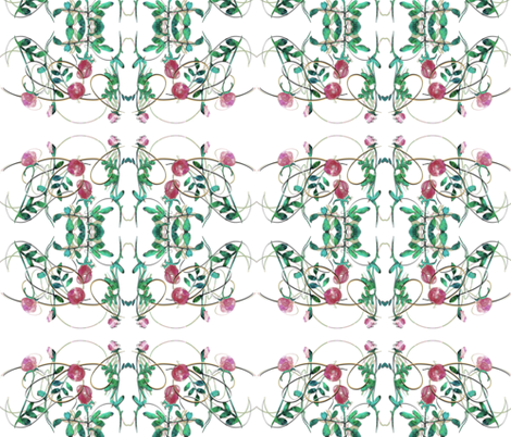 Hedge Roses fabric by keska on Spoonflower - custom fabric