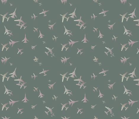 Flight-Grey-blue fabric by patsijean on Spoonflower - custom fabric