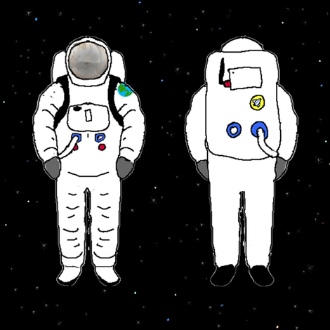 astronaut fabric by moonbeam on Spoonflower - custom fabric