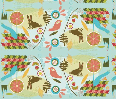 funky flower pattern fabric by junej on Spoonflower - custom fabric