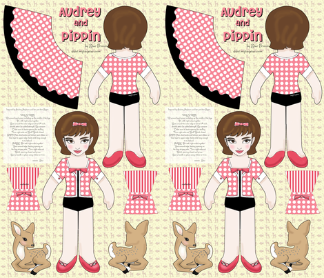 audrey and pippin doll panel fabric by mytinystar on Spoonflower - custom fabric