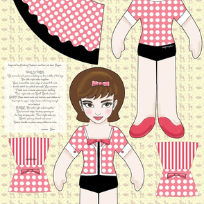 audrey and pippin doll panel