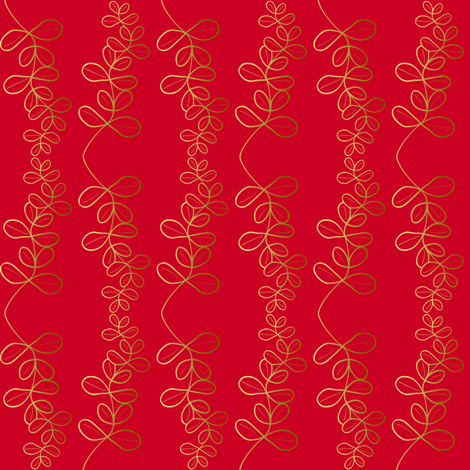 Garland Glitz - Garnet Red fabric by inscribed_here on Spoonflower - custom fabric