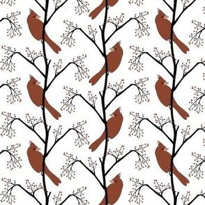 Winter Birds Herringbone