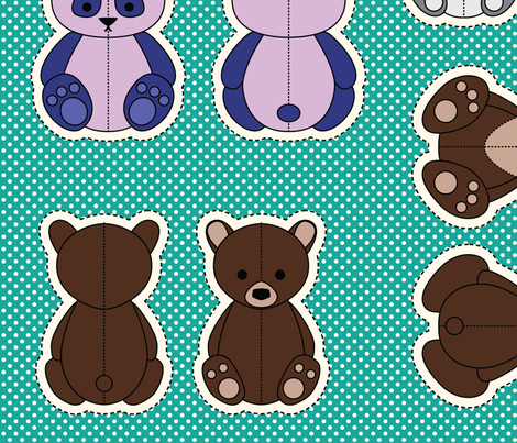 Teddy Bears of the World fabric by daughter_earth on Spoonflower - custom fabric