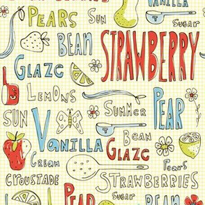 Summer Sweets - Vintage Fruit Typography