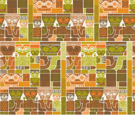 Tikis 1d fabric by muhlenkott on Spoonflower - custom fabric