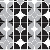 Othello - Midcentury Modern Geometric Black & Grey