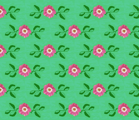 single_rose_and_leaves_b_doodle_Picnik_collage-ch-ch-ch fabric by khowardquilts on Spoonflower - custom fabric