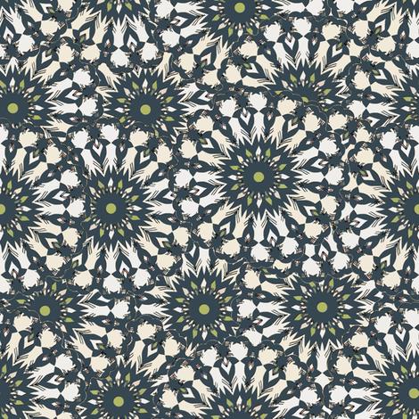 Field of Flowers - Sea Blue/Green fabric by kristopherk on Spoonflower - custom fabric