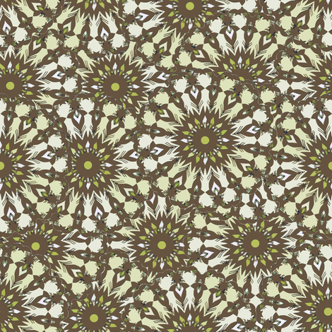 Field of Flowers - Taupe fabric by kristopherk on Spoonflower - custom fabric