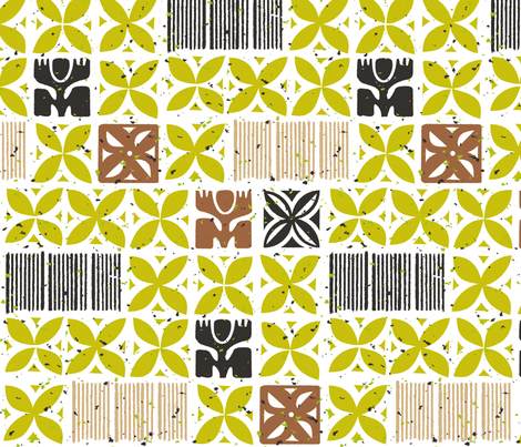 Aloha Flowers 3a fabric by muhlenkott on Spoonflower - custom fabric