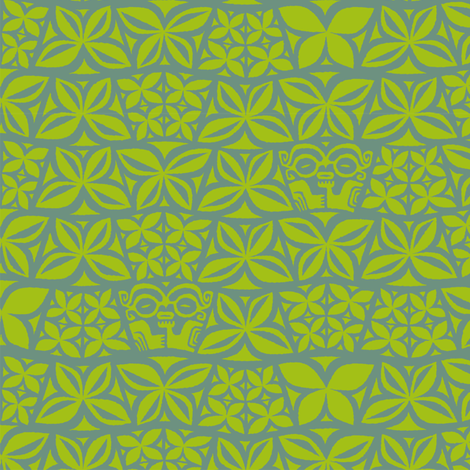 Aloha Flowers 4b fabric by muhlenkott on Spoonflower - custom fabric