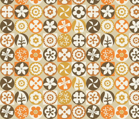 Aloha Flowers 6b fabric by muhlenkott on Spoonflower - custom fabric