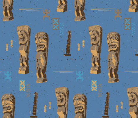 Pu'uhonua O Honaunau 1c fabric by muhlenkott on Spoonflower - custom fabric