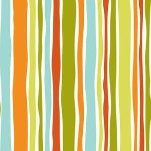 Barcelona Stripe - Green Orange