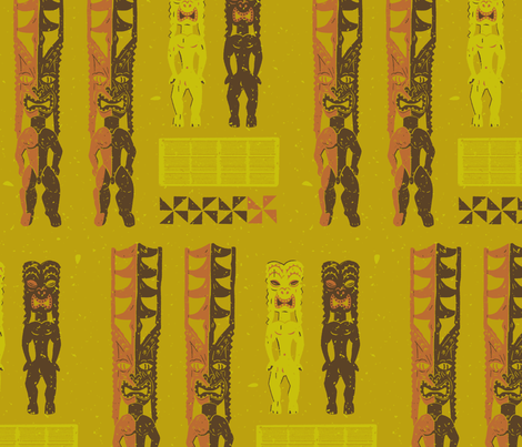 Tikis 4a fabric by muhlenkott on Spoonflower - custom fabric