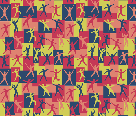 Dancing Matisse fabric by coloroncloth on Spoonflower - custom fabric