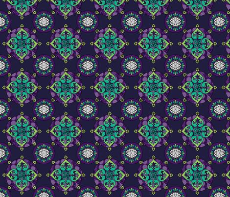 Fleur-de-lis - Purple fabric by jessicasoon on Spoonflower - custom fabric