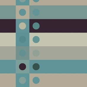 Blues Border Fabric