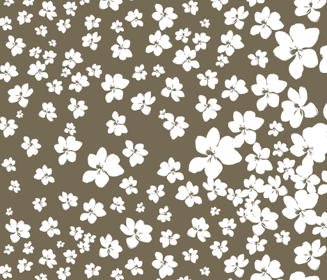 Magnolia Little Gem - Dark Spice - 1 yard panel fabric by kristopherk on Spoonflower - custom fabric