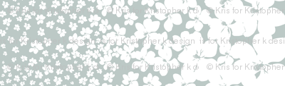 Magnolia Little Gem - Arctic - 1 yard panel