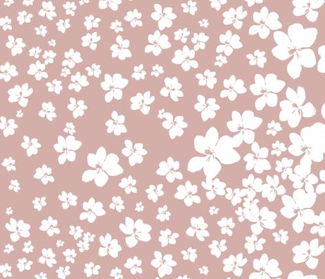 Magnolia Little Gem - Dusty Pink - 1 yard panel fabric by kristopherk on Spoonflower - custom fabric