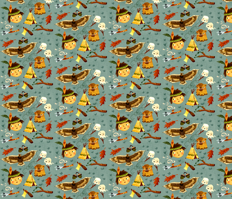 Indian Kid fabric by chesirella on Spoonflower - custom fabric