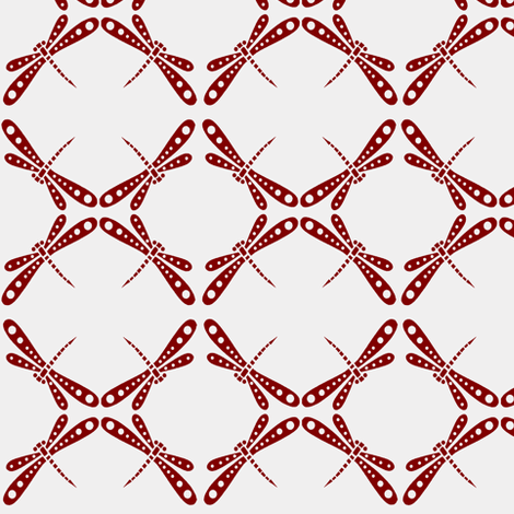Dragonfly Dance -  Red fabric by kristopherk on Spoonflower - custom fabric