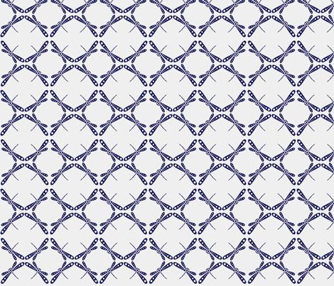 Dragonfly Dance -  Dark Blue © Kristopher K 2009 fabric by kristopherk on Spoonflower - custom fabric