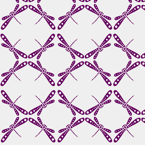Dragonfly Dance -  Plum fabric by kristopherk on Spoonflower - custom fabric