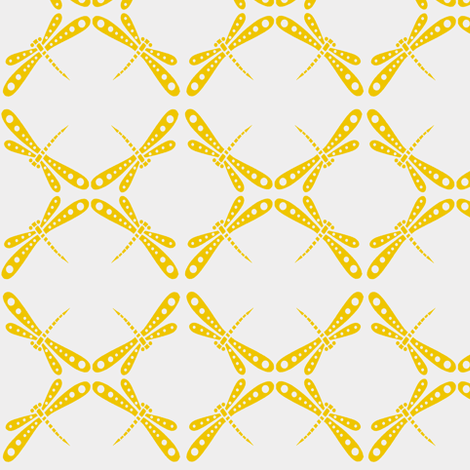 Dragonfly Dance -  Sun Yellow fabric by kristopherk on Spoonflower - custom fabric