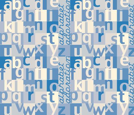 AlphabetAdoration fabric by tammikins on Spoonflower - custom fabric