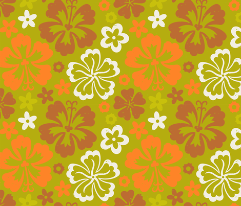 Aloha Flowers 7c fabric by muhlenkott on Spoonflower - custom fabric