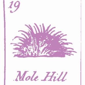 Vintage Printable Molehill - Lavender