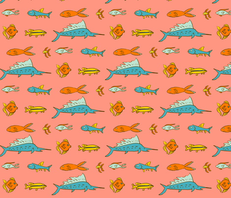 Fish Swim fabric by laurawilson on Spoonflower - custom fabric