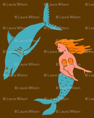 mermaid shark brown