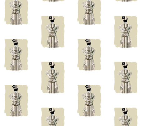 Dress Form Parisian fabric by karenharveycox on Spoonflower - custom fabric